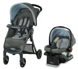 Graco Baby FastAction SE Travel System Stroller w SnugRide 30 LX Car Seat Carbie