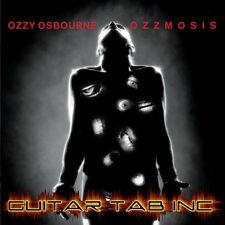 Ozzy Osbourne Guitar & Bass Tab OZZMOSIS Lessons on Disc
