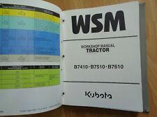 Kubota B7410 B7510 B7610 tractor factory workshop repair manual OEM **