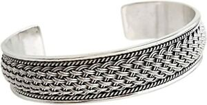 Statement Men's Silver Bangle Bracelet Cuff Made from Solid 925 Sterling Silver