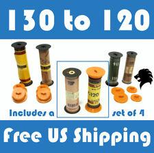 130 to 120 Film Spool Adapter Set/Kit (4pcs) For Antique Vintage Cameras Folding
