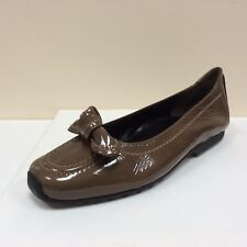 K&S Susa stone patent flats with bow detail, UK 4.5/EU 37.5, RRP £135, BNWB
