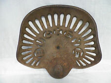 Old VTG Cast Iron Buckeye Akron Aultman Miller & Co. Tractor Seat 2 Horse Drawn