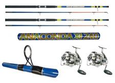 kit 3 canne anaconda azione 300g pesca siluro break line fiume storione fondo