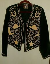 Double D Ranch Jacket Embroidered Boots Horseshoes Stars Western Bolero size M ?