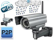TELECAMERA IP CAMERA WATERPROOF ESTERNO WIFI P2P WIRELESS INFRAROSSI 24 LED