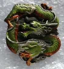 SNAKING DRAGON FLAMES CLAWS BELT BUCKLE BERGAMOT BRASS WORKS MADE IN USA NEW