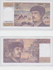 GERTBROLEN  20 FRANCS ( DEBUSSY ) de 1989  B.024 Billet N°  0576193345