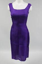 NWT MICHAEL KORS Purple Blackberry Silk Sheath Georgette Dress Size 4 $1795