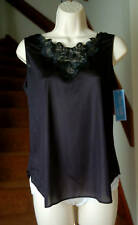 Dixie Belle Antron III 100% Nylon Lace Top Wide Strap Black Cami Size Large