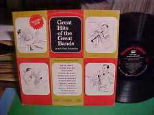 VARIOUS HITS OF THE GREAT BANDS LP ARTIE SHAW TOMMY DORSEY BENNY GOODMAN OTHERS