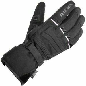 Richa Peak Waterproof Motorcycle Motorbike Light Weight Gloves - Black