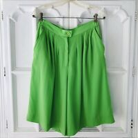 Vintage Lilli Ann Collections Sz XS/S Shorts Culottes Green Made in USA Unique