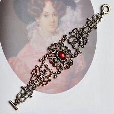 Armband mit roten Stein rot Gothic Barock Trachtenschmuck altgold -farbig NEU