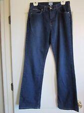 """Preowned Women's Calvin Klein Size 10 Dark Blue Jeans Demin Inseam 31"""" Straight"""