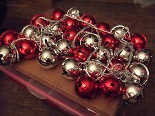30 Pc. Jumbo Bell Metal Christmas Decorations String Vintage