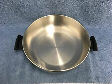 AMWAY QUEEN Stainless Steel HIGH-DOME LID for Skillet/Stock Pot Made in USA EUC