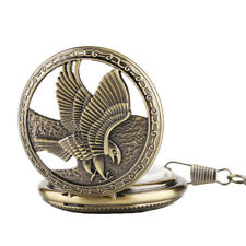 Antique Hollow Eagle Roman Numbers Skeleton Hand Winding Mechanical Pocket Watch