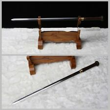100% Hand Forged Chinese Longquan Sword Pattern Steel Huali wood Copper Fitting