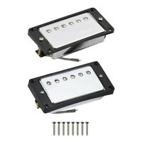 Set of Neck & Bridge Alnico 5 Humbucker Pickup with Curved Frame for LP Guitar