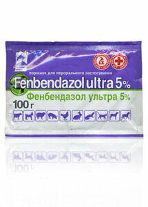 Fenbendazol  De - Wormer Ultra 5% Broad Spectrum  Professional MAX. Pack 100 g