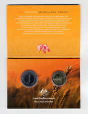 "2012 Uncirculated Australian Two Coin Mint Set: ""Australian Wheat."""
