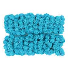 144 X Mini Flores Artificiales falsas rosas de espuma Ramos boda decoración Moda
