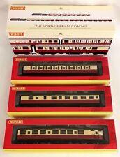 HORNBY OO NORTHUMBRIAN 3 COACH PACK R4228 MINT BOX BNIB Blood & Custard ex LNER