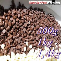 Real BELGIAN CHOCOLATE Drops MILK DARK WHITE for Fountain Desserts Glazing 1kg 2