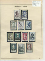 France 1956-57 MM+Used Stamps On 2 Pages Ref: R6490