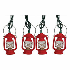 River's Edge Products Small Lantern String Lights 10ft Cord 10 Lights Lighting
