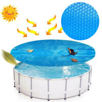 Blue Solar Covers Pool Blanket 8-15 ft  for Round Above Ground Swimming Pools