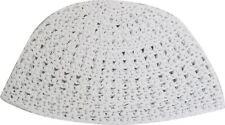 Holy Israel White Knitted Kippah Yarmulke Tribal Jewish Hat covering kippa Cap