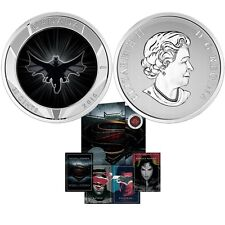2016 CANADA 25-CENT LENTICULAR COIN BATMAN V SUPERMAN: DAWN OF JUSTICE™+ 2 CARDS