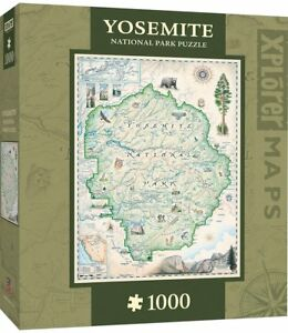 Yosemite Xplorer Maps 1000 piece jigsaw puzzle  680mm x 490mm  (mpc)