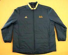 Adidas Climaproof Men's Full Zip Jacket Size 2Xl Blue Ucla Bruins