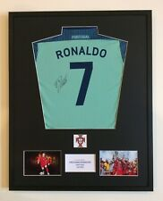 Cristiano Ronaldo Real Madrid FC Portugal Hand Signed Mounted Football Shirt