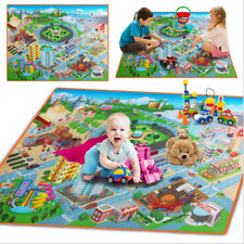 Cute 120*90cm Baby Play Mat Kids Carpets Route Map Crawling Pad Baby Toys