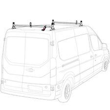White H1 2 Bar Steel Ladder Roof Rack for a Transit Cargo Van 2015-present
