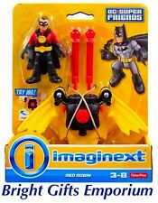 Imaginext Red Robin Figure And Glider DC Super Friends Fisher Price Batman NEW!