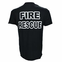 Fire Rescue Fire Fighter Black T Shirt