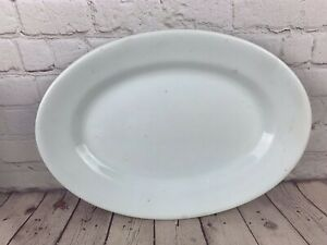Antique/Vintage J & G Meakin White Ironstone China Oval Platter