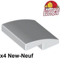beige dark tan Brick Slope 2x2 Curved NEUF NEW 4 x LEGO 15068 Brique Courbée