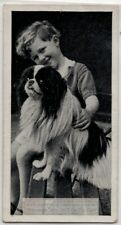 Japanese Chin Spaniel Dog With Young Child 1930s Ad Trade Card