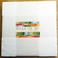"""Bella Solids White Layer Cake for Moda (42) 10"""" Squares 9900LC 98"""