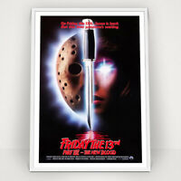 19K Friday the 13th Classic Horror Movie Vintage 2 Silk Cloth Art Poster Decor