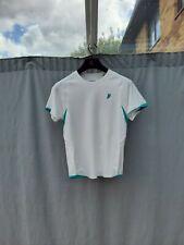 Prince White Aerotech Exercise Court T Shirt Size Uk 12 New