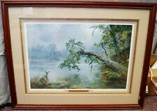 """Charles Vickery """"His Eye Is On The Sparrow"""" Signed Lithograph Artist Proof 26x34"""