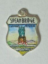 Spean Bridge Scotland, Commando vintage sterling silver enamel  travel charm