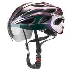 ROCKBROS Cycling MTB Road Bike Helmet with Goggles Visor Gradient Purple